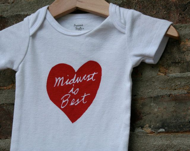 Midwest is best baby onesie FREE SHIPPING. $18.00, via Etsy.
