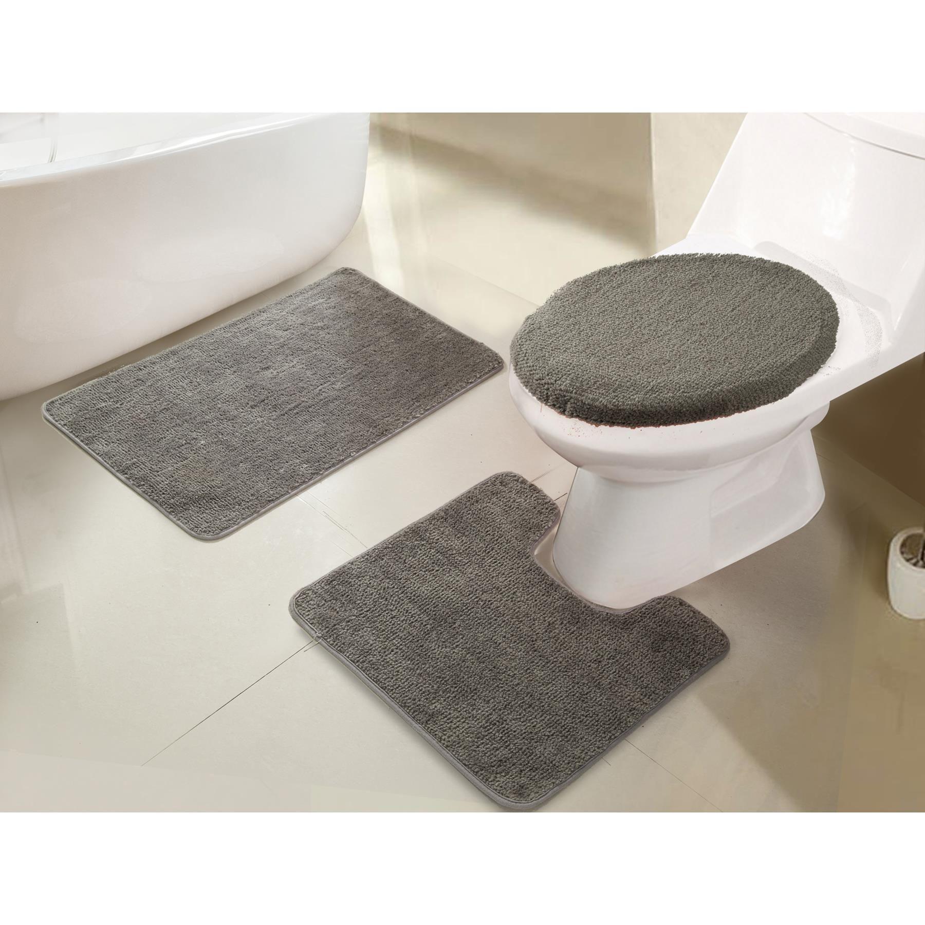 Rt Designers Collection Imperial 3 Piece Rug Set Bath Contour Toilet Lid Bath Rugs Sets