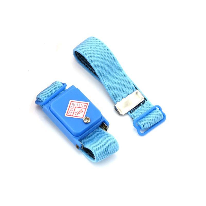 Blue fabric stretch wristband anti static wireless wrist