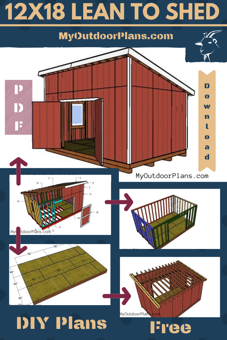 How To Build A 12x18 Lean To Shed Free Shed Plans Shed Shed House Plans