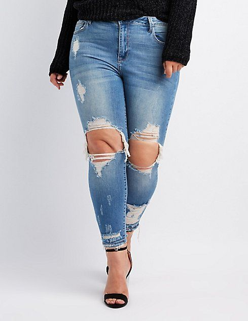 ac53578e6a54a Plus Size Cello Destroyed Skinny Jeans I love the quality and fit of these  jeans!!  Mrspr3ttyP
