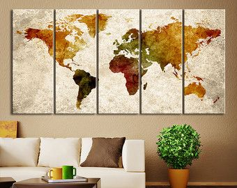 World map canvas art print large wall art by extralargewallart world map canvas art print large wall art by extralargewallart pinteres gumiabroncs Gallery