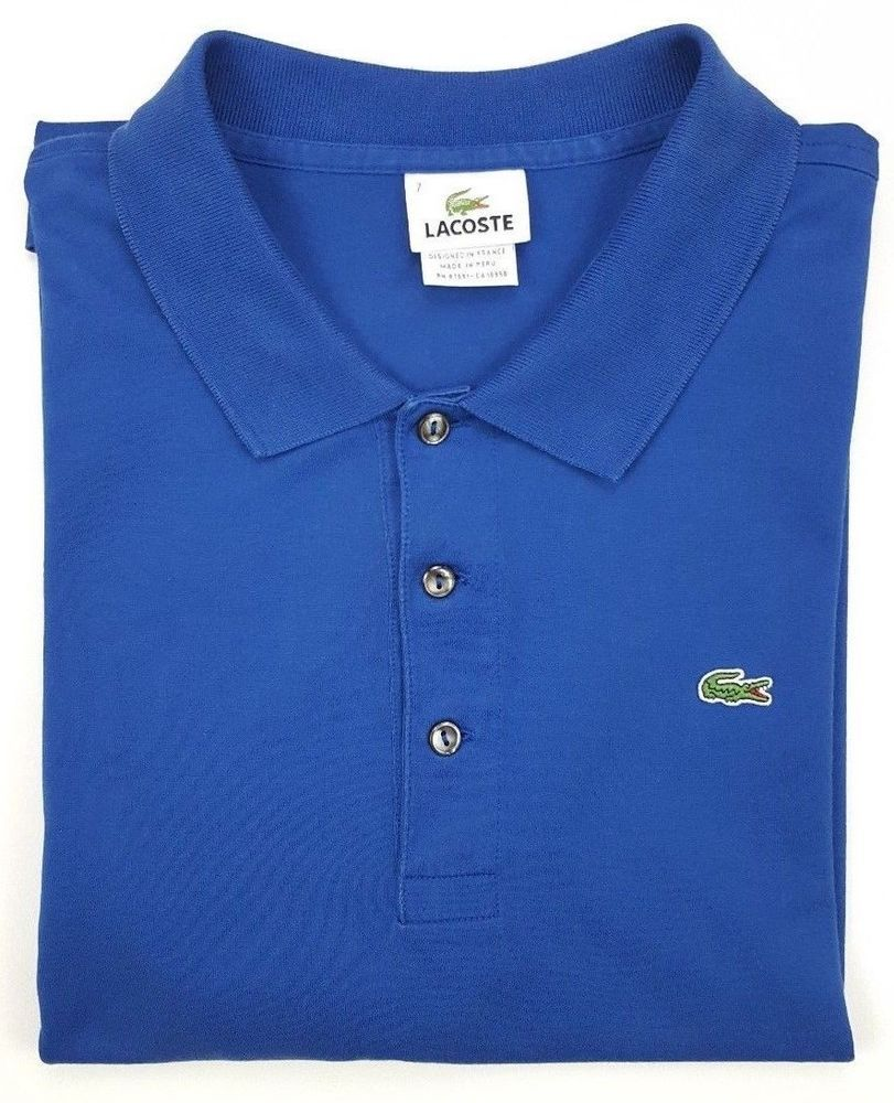 Details Lacoste Polo Shirt 7 Pique Cotton Green 5191 About Size Mens ONnX0w8kP