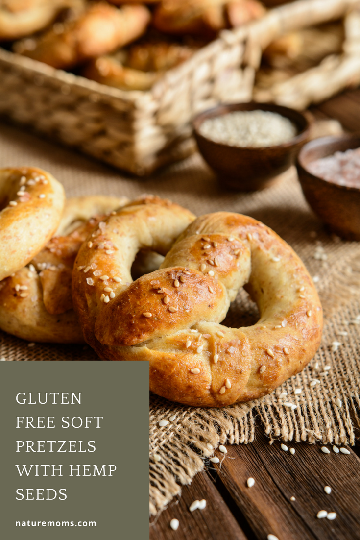 Gluten Free Soft Pretzels with Hemp Seeds - Nature Moms Blog » Nature Moms