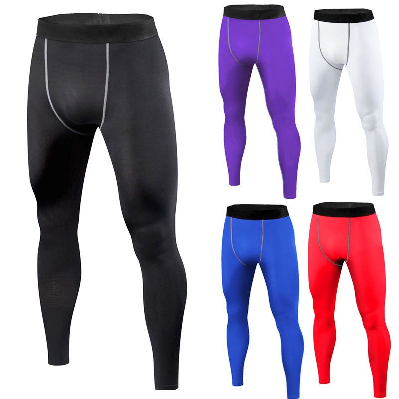 f8db6323e9 Men Compression Pants Base Layer Skin Tights Running YOGA Workout Gym  Sports Activewear Tops