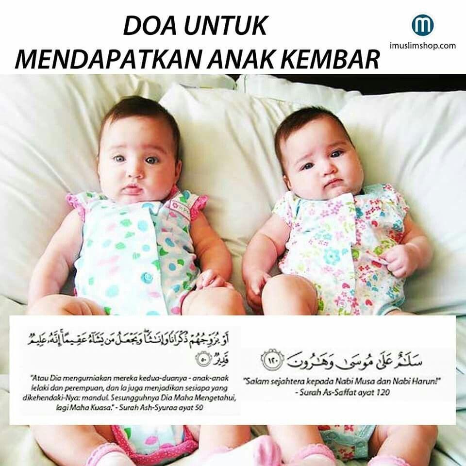 Doa Untuk Mendapatkan Anak Kembar Dengan Gambar Kembar Doa Anak