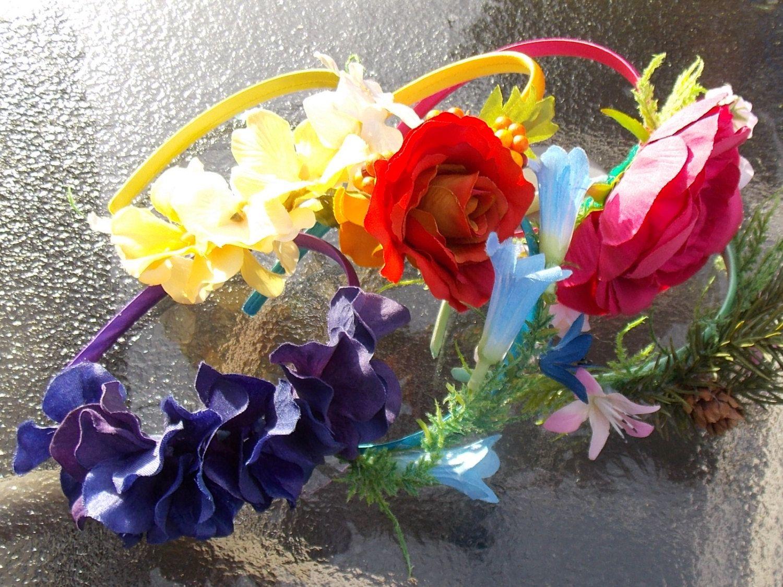 Rainbow fairy party favor pack fairy flower crown set set of six rainbow fairy party favor pack fairy flower crown set set of six or more izmirmasajfo