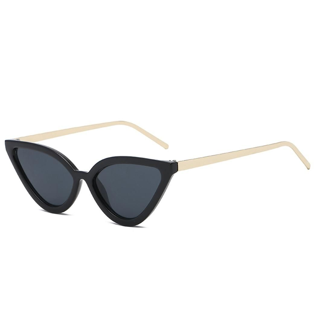 a30e8ecc4b0b OUTEYE Retro Cat Eye Sunglasses Women Small Black White 2018 Fashion Ladies  Cateye Triangle Vintage Sun Glasses Red Female. Yesterday's price: US $3.98  ...