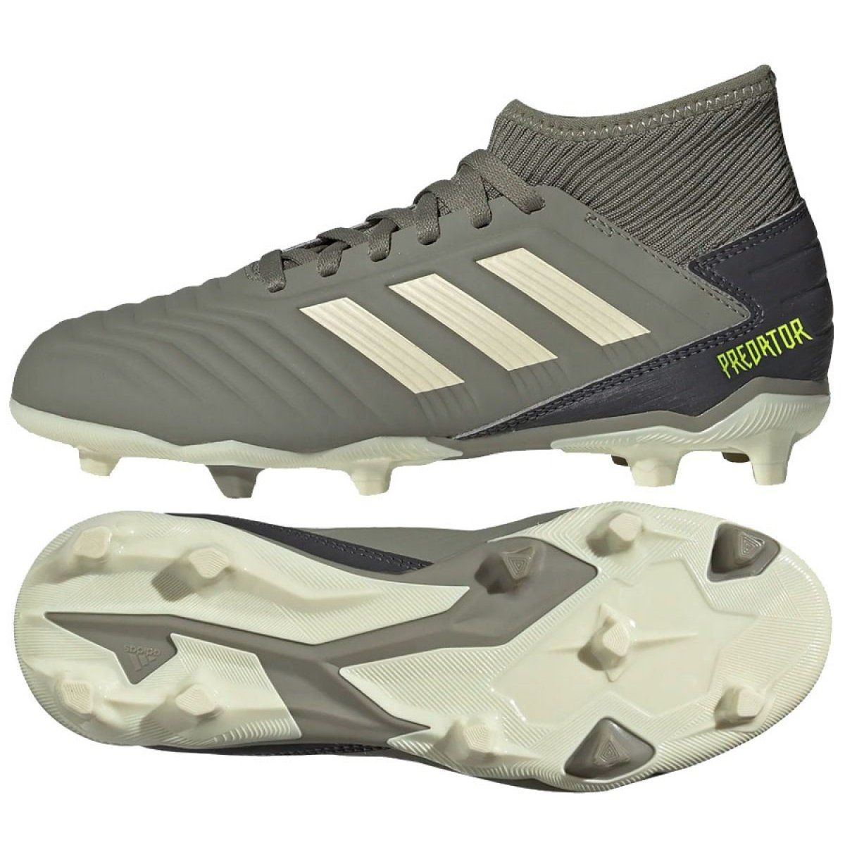 Buty Pilkarskie Adidas Predator 19 3 Fg Jr Ef8215 Szare Football Shoes Adidas Adidas Predator