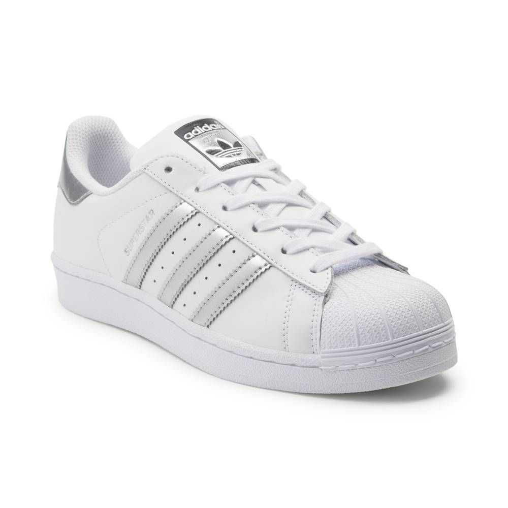 d24718b40d2337 Womens adidas Superstar Athletic Shoe - White Silver - 436265