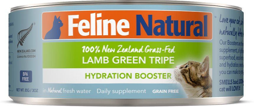 Feline Natural Lamb Green Tripe Grain Free Hydration Booster Canned Cat Food Supplement 3 Oz Case Of 12 Chewy Com Canned Cat Food Green Tripe Grain Free