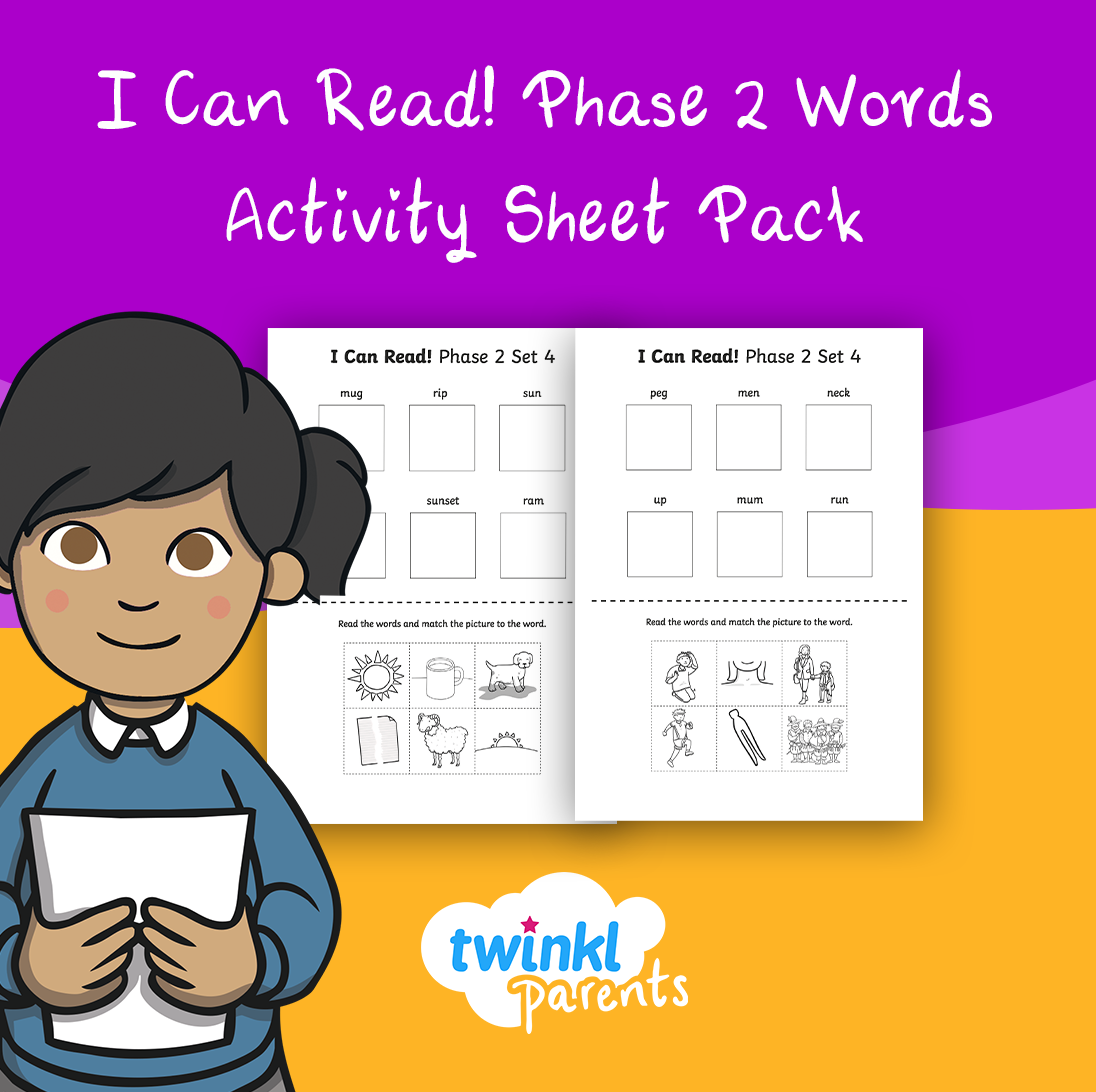 Phase 2 Words I Can Read Worksheet In