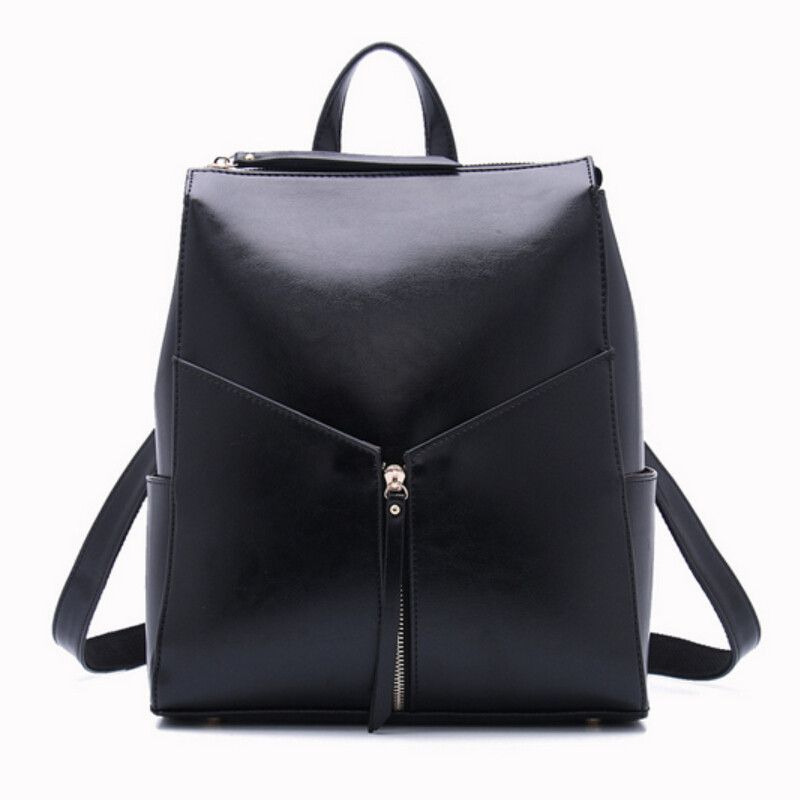 92260da0cf50 Aliexpress.com   Buy women black leather backpack female fashion office bag  ladies work bags stylish backpacks for teenage girls mochilas femininas  from ...