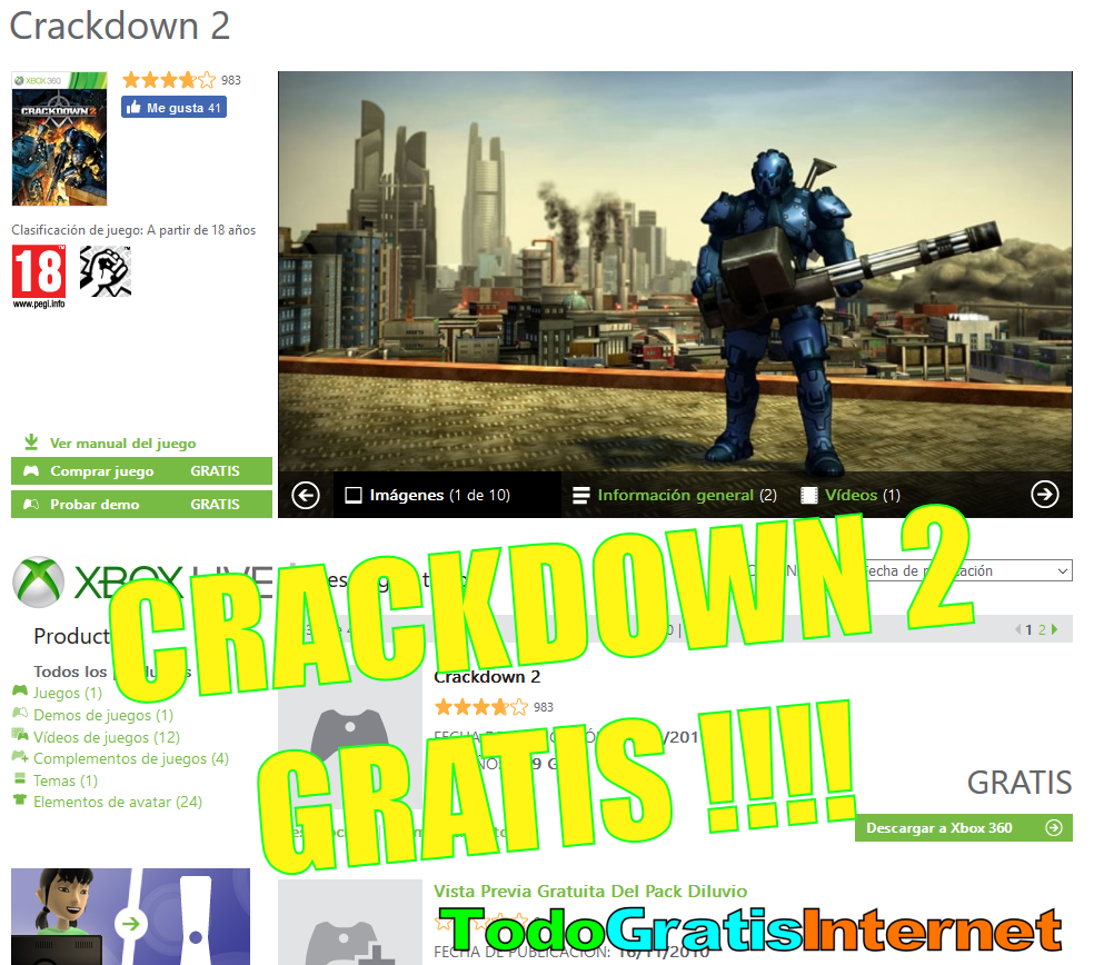Crackdown 2 Gratis Para Xbox 360 Y Xbox One Xbox 360 Xbox