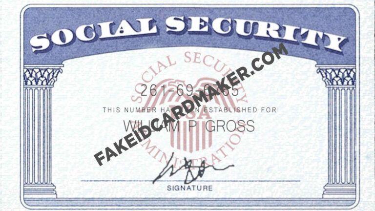 Usa Social Security Card Fake Id Virtual Fake Id Card Maker Pertaining To Social Security Card Tem Social Security Card Card Template Visiting Card Templates