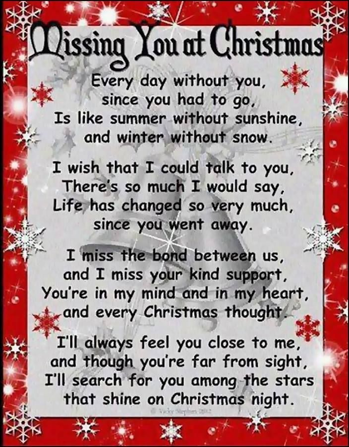 Christmas Ornaments For Lost Loved Ones Part - 40: Missing You At Christmas Christmas Christmas Ornaments Christmas Quotes  Christmas Quote Christmas Love