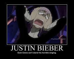 Soul Eater Justin Bieber Meme Even Crona Hates Justin Bieber Soul Eater Funny Soul Eater Soul Eater Crona even crona hates justin bieber soul