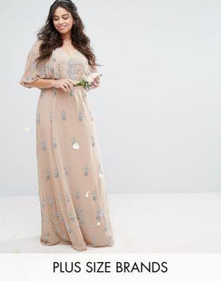 Maya Plus Embellished Kimono Sleeve Maxi Dress | Dresses ...