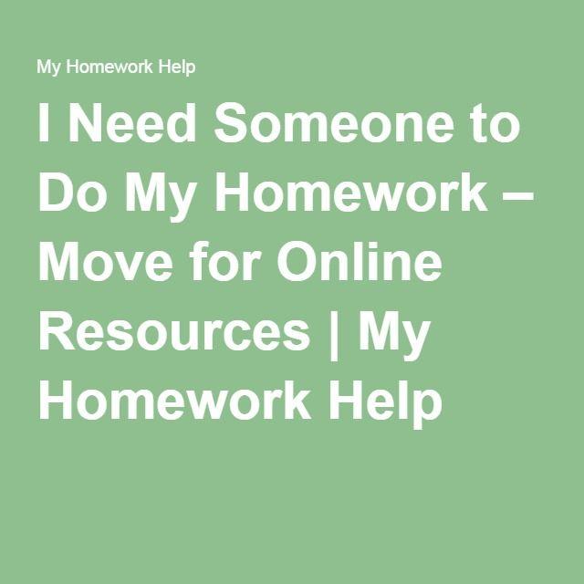 I want someone to do my homework