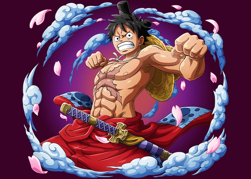 Staw Hats Wano One Piece Metal Poster Print Onepiecetreasure Displate One Piece Wallpaper Iphone One Piece Anime Poster Prints