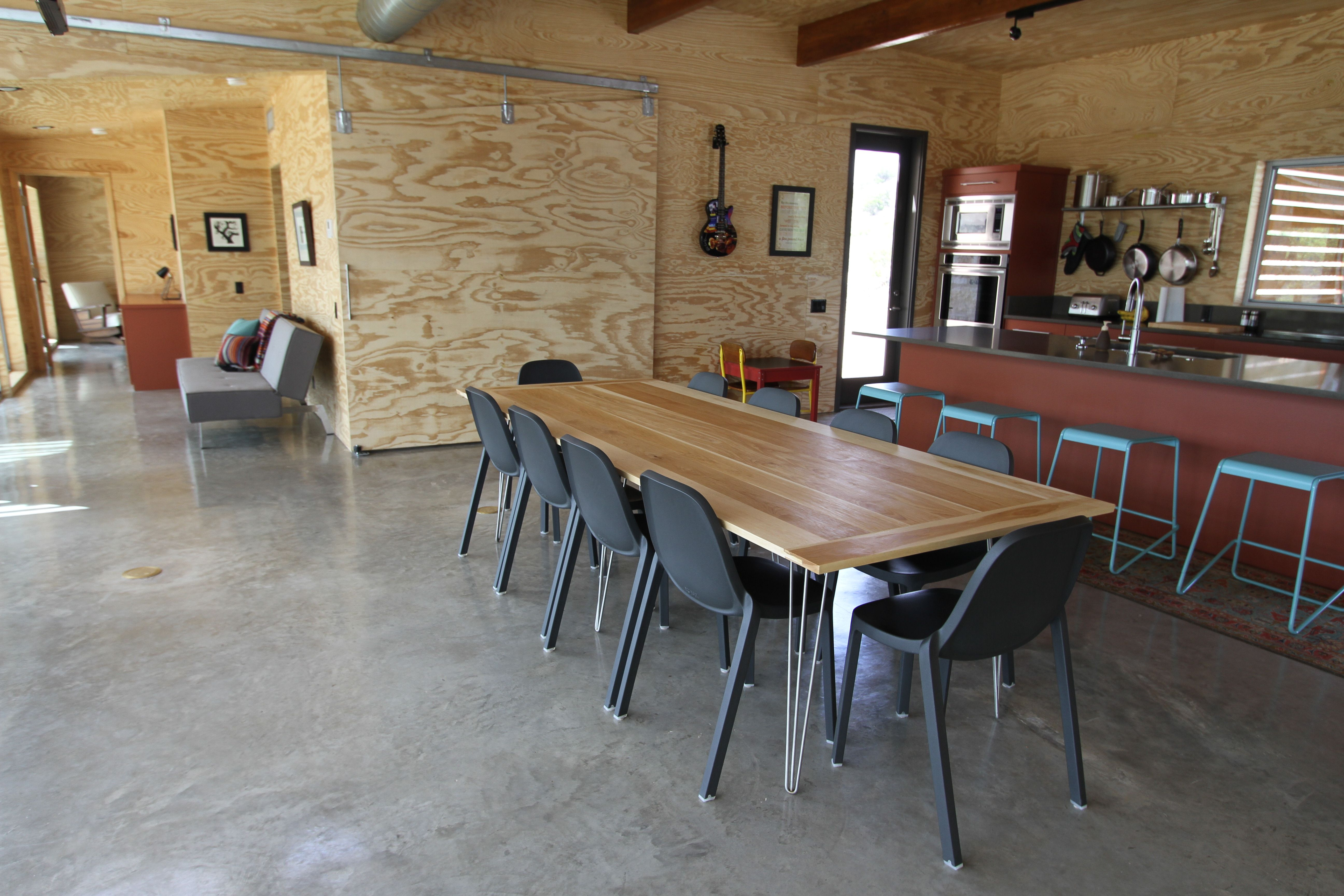 Dining Room Rustic Wooden Dining Table With Stainless
