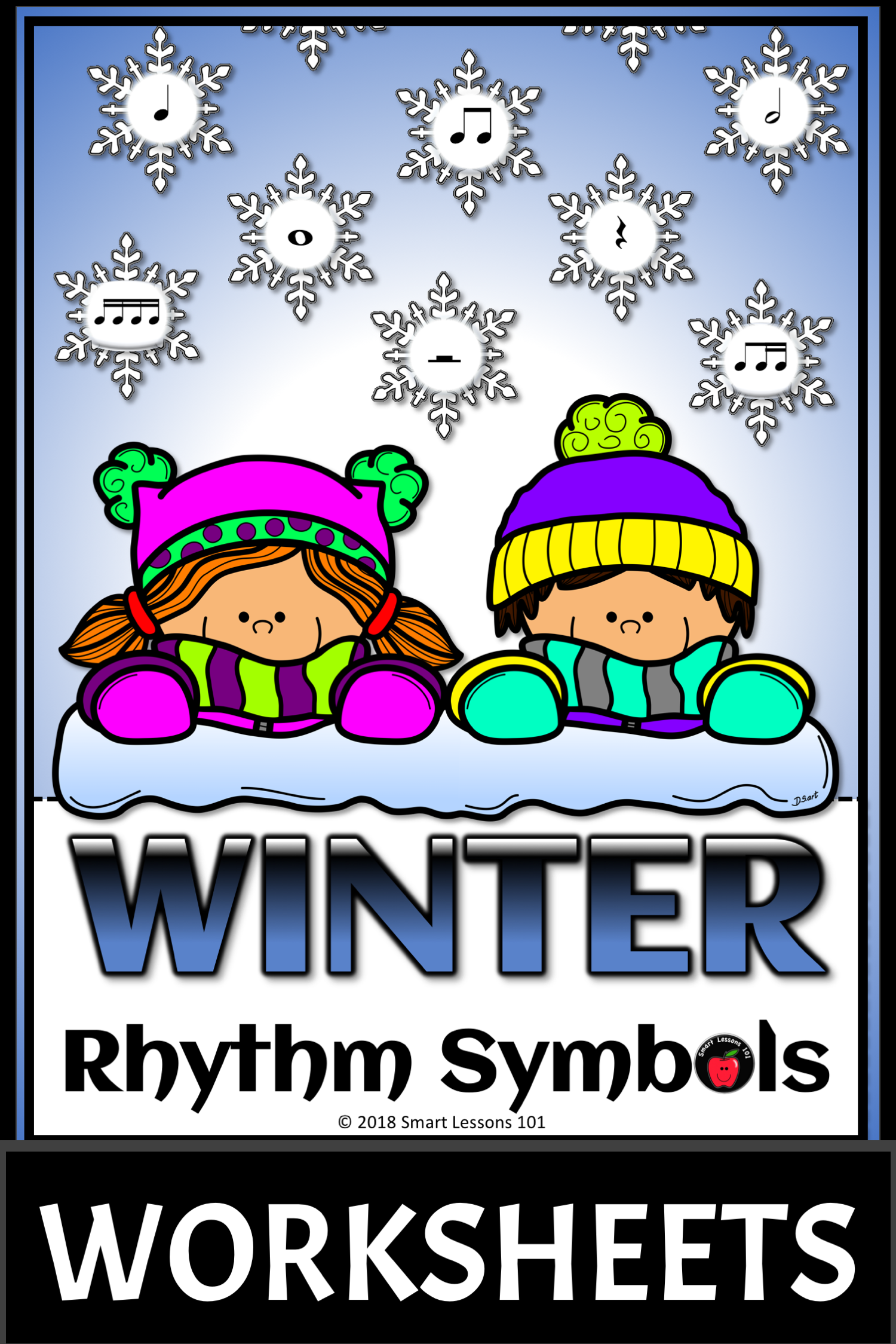 Distance Learning Winter Music Worksheets Rhythm
