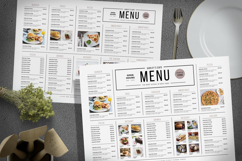 Simple Menu Board By Aarleykaiven On Envato Elements Simple Menu Menu Design Layout Menu Template