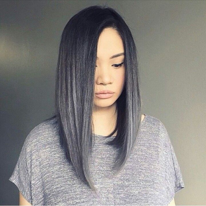 Image result for silver ombre on straight bob hair pinterest 25 simple long bob hairstyles which you can do yourself striking grey long bob haircut solutioingenieria Image collections