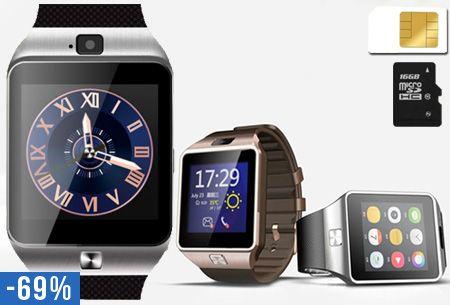 b8d261a436bc88 Bluetooth smartwatch met camera en micro SIM kaart functie nu €39
