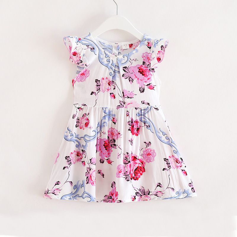 9f5131c776d Check out my new Lovely Flower Print Ruffled Cap-sleeve Dress for Toddler  Girl and Girl
