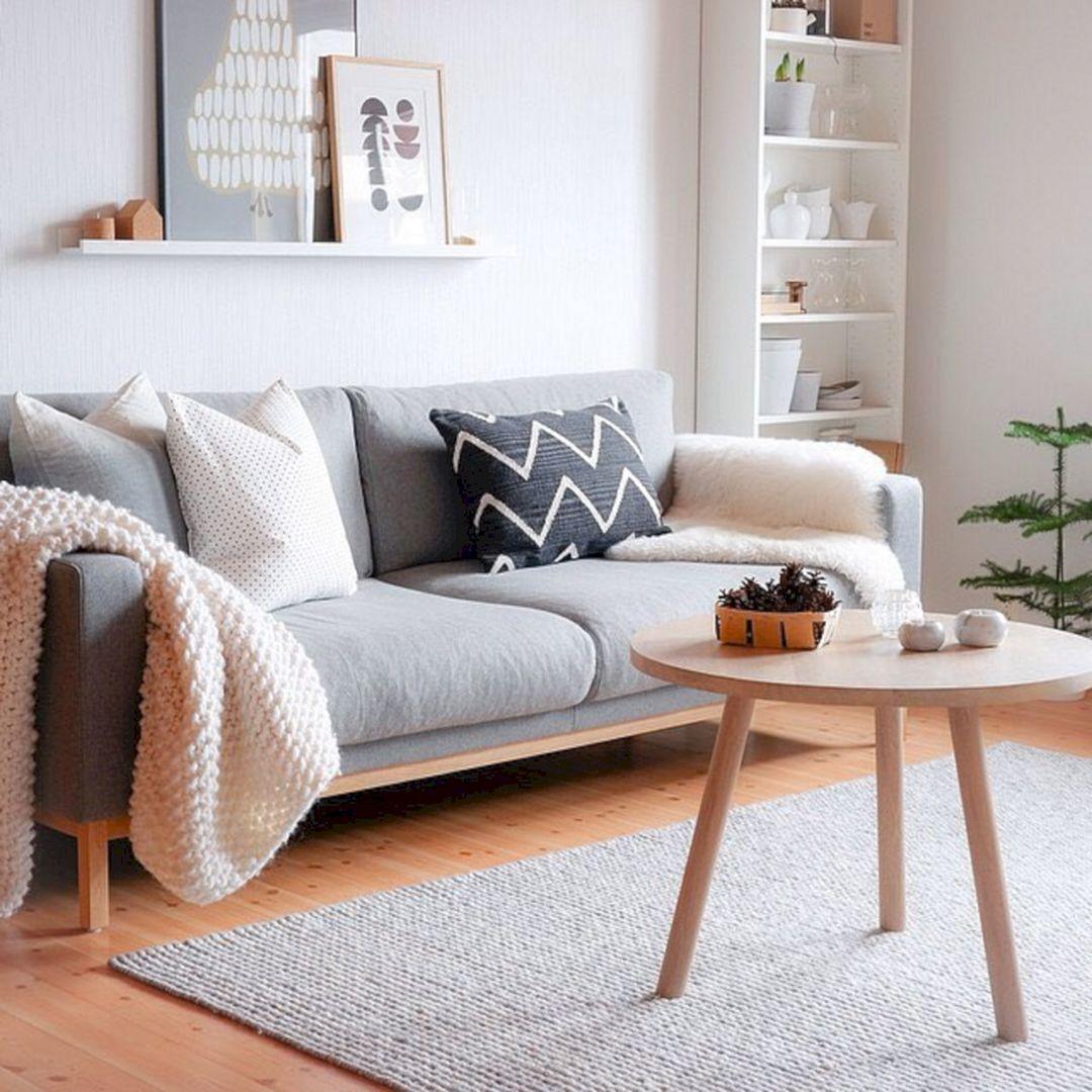 Outstanding 47+ Beautiful Nordic Living Room Design Ideas