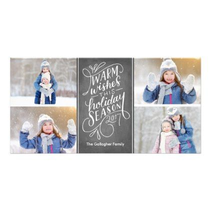 Warm wishes this holiday hand lettered 4 photo card christmas warm wishes this holiday hand lettered 4 photo card christmas cards merry xmas family m4hsunfo