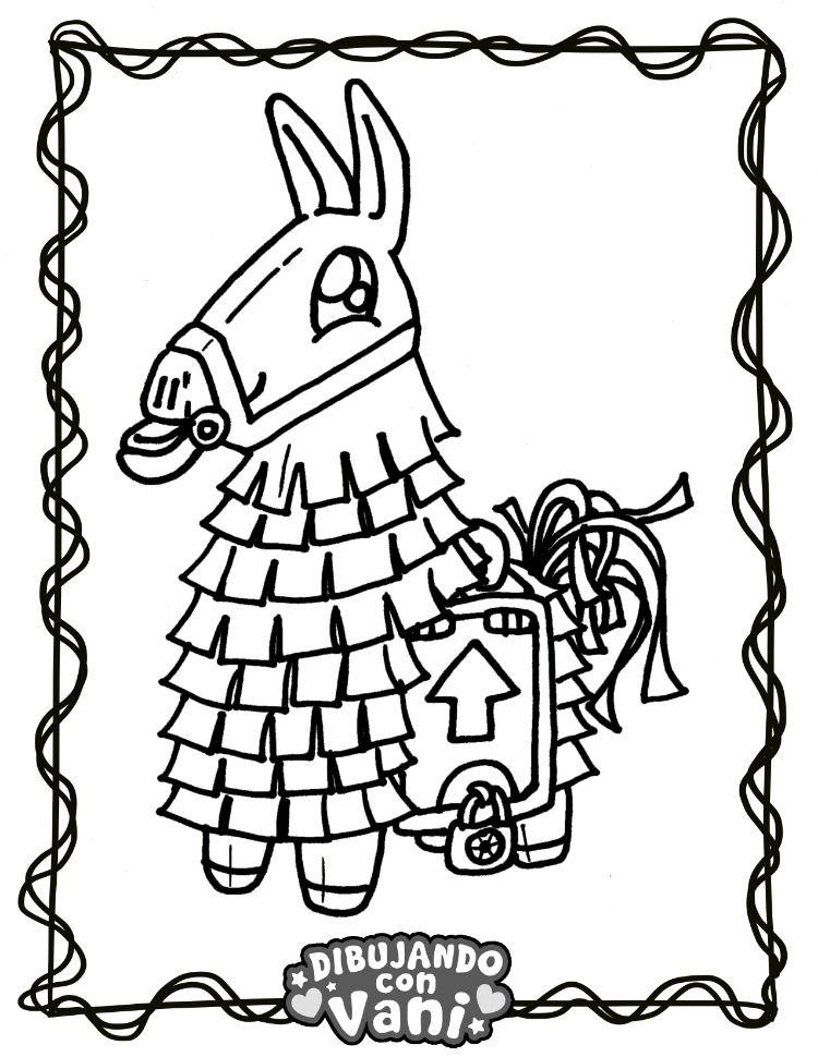 Llama Fortnite Kawaii Dibujos De Anime Como Dibujar Kawaii Dibujos Para Colorear
