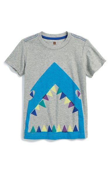 Tea Collection 'Shark Bite' Graphic Cotton T-Shirt (Toddler Boys & Little Boys) available at #Nordstrom