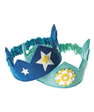 Felt Crowns from Dream Child Studio on Etsy, from $18
