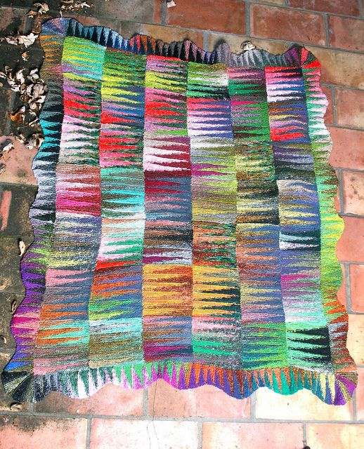 Pennants Afghan by Lisa Dusseault based on a Kaffe Fassett quilt ...
