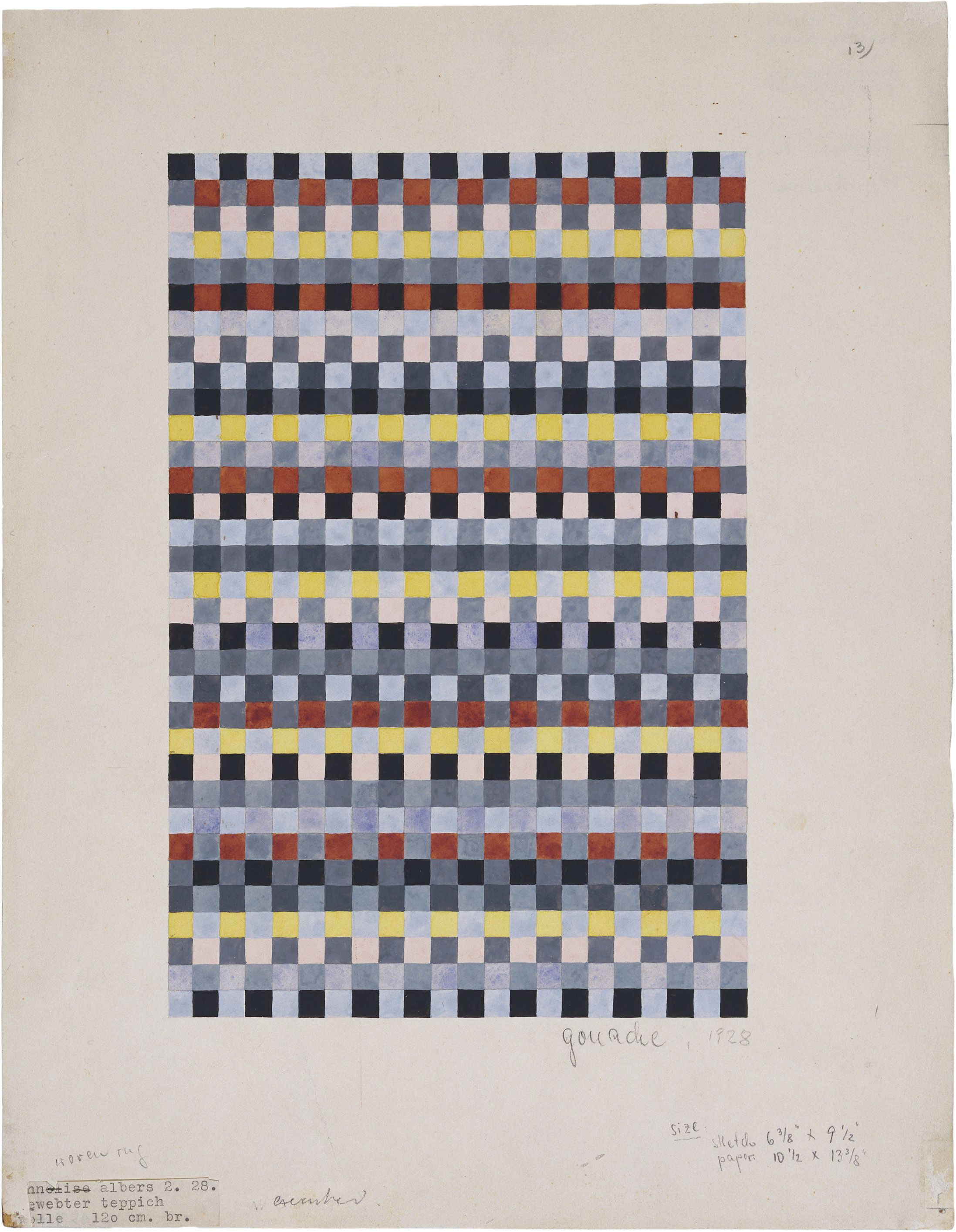 Vintage Collage Pacific Teppich Rug Design For A Child S Room Gouache On Paper 1928 Anni Albers