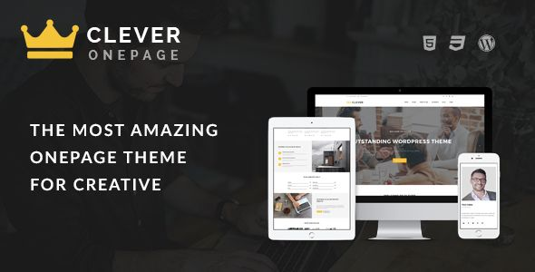 Clever One Page - Creative WordPress Theme