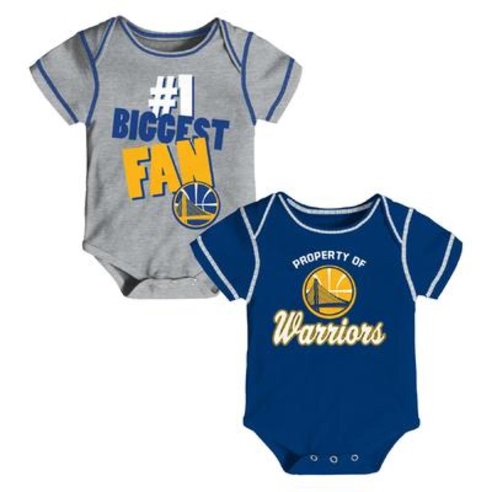 NBA Newborn & Infants 2 Pack Bodysuits Golden State Warriors