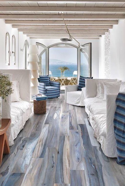 Floor Design丨blue The Color Of Ocean The Color Of Sky Blue A Cold But Warm Color Hanflor Vinylflooring Indoorpvc Pv House Design Beach House Interior Home