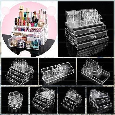 details zu neu 9 modell kosmetik organizer make up aufbewahrung st nder schubladen box beauty. Black Bedroom Furniture Sets. Home Design Ideas