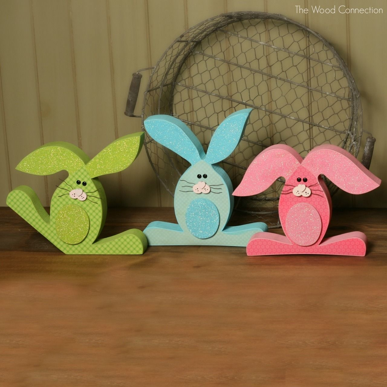 Featured 5 Spring Projects: The Wood Connection - Bunny Trio, $5.95