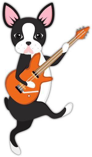 Boston Terrier Guitar Emoji From Boston Terrier Lover Emoji Stickers For Imessage For Puppy And Dog Lovers Boston Terrier Lover Dog Emoji Boston Terrier Dog