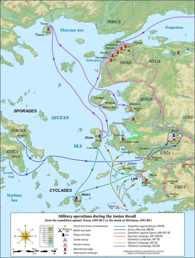 The Ionian Revolt And The Battle Of Marathon First Greek Persian