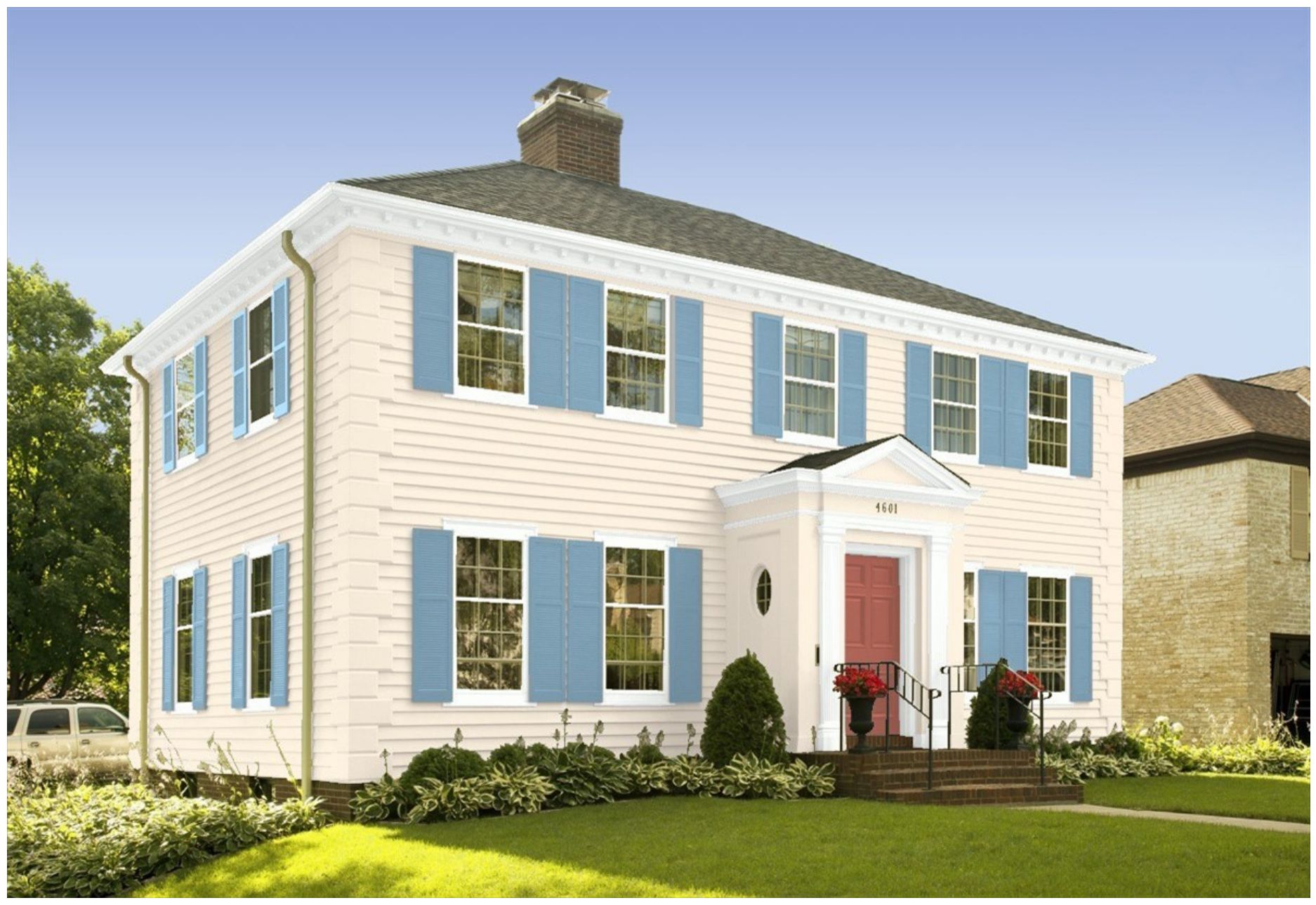 Americana Inspired Interior and Exterior Paint Colors by Benjamin ...