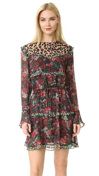 2d8764b7217a Mixed Print Dress in 2019   Clothes Before Hoes   Maison scotch ...