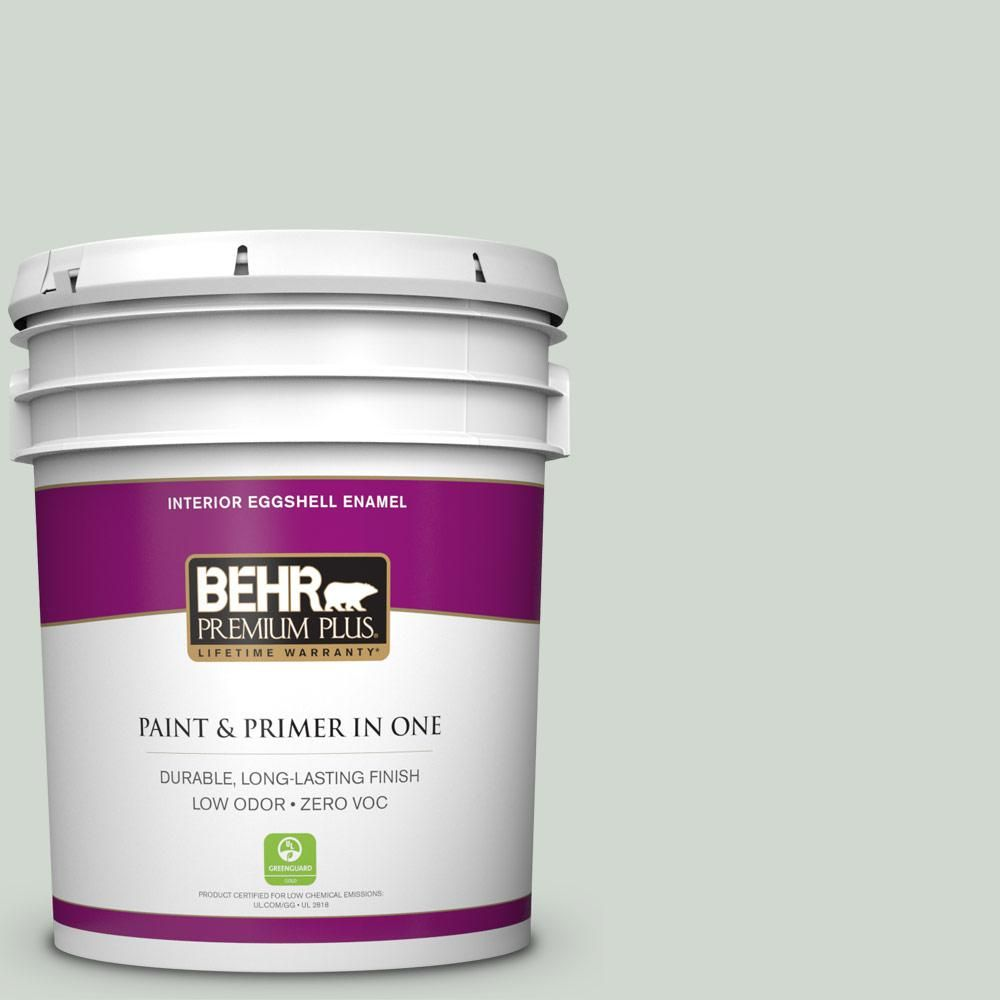 BEHR Premium Plus Home Decorators Collection 5-gal. #hdc-CT-23 Wind Fresh White Zero VOC Eggshell Enamel Interior Paint