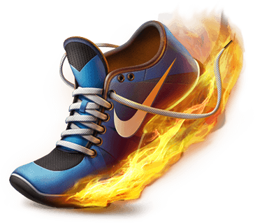 green nike shoes yellow swoosh png background effects 837726