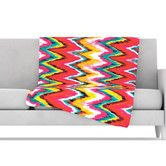 Found it at AllModern - Painted Chevron Microfiber Fleece Throw Blanket