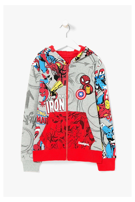 ab212c1ce74 Sudadera gris para niño - Marvel Comic | chompas y busos niños ...